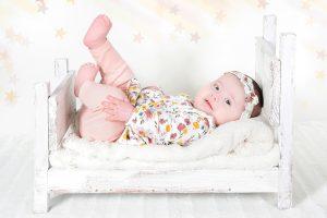 Fotografía de bebé en el estudio