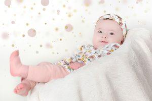 Sesión de fotografía de bebé