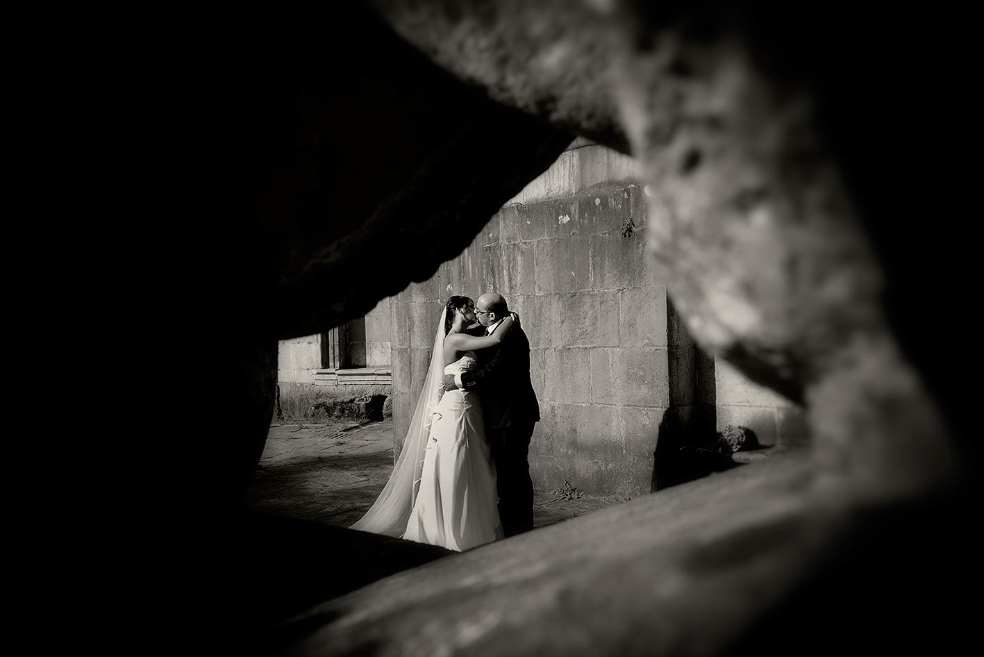Fotografía de boda en el santuario de Loiola (Azpeitia)