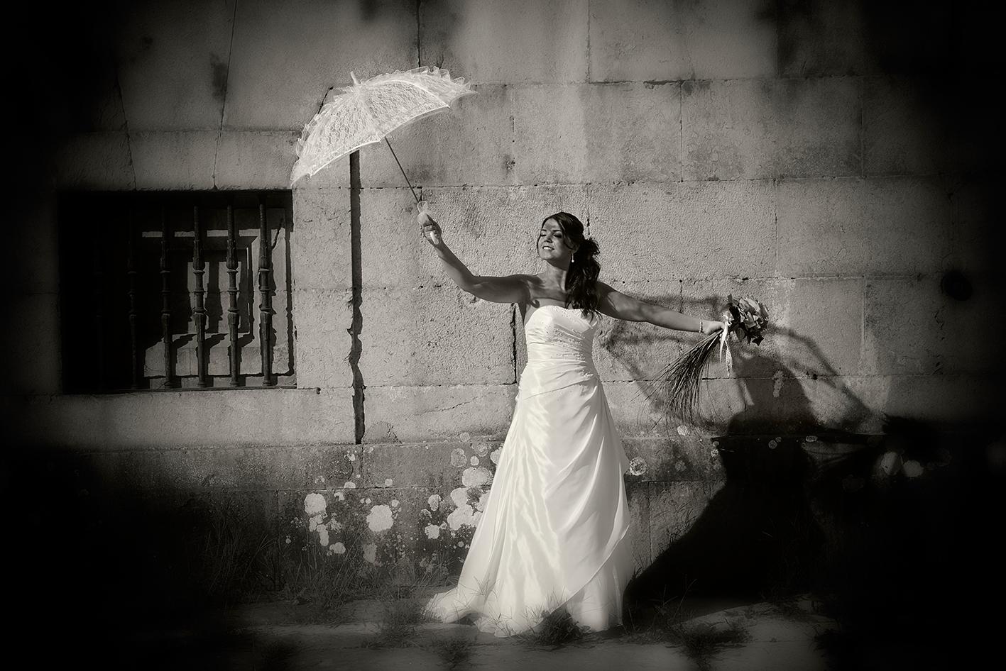 Fotografía de boda en blanco y negro Azpeitia (Gipuzkoa)