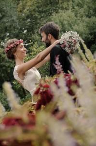 Fotografía de boda jardín